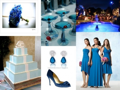 The thought of incorporating something blue into your wedding day comes from